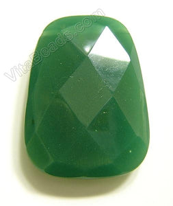 Forest Green Quartz - 30x40mm Faceted Ladder Pendant