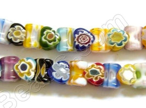 Glass Beads  -  Bone - Multi color  16""