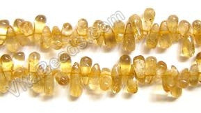 "Plain Teardrop Side Drill  -  Citrine  16""    8 - 10 mm"