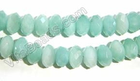 Amazonite AA -  Faceted Rondel  16""