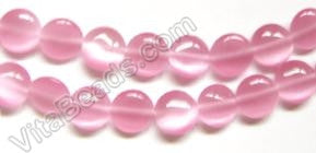 "Cat's Eye  -  Puff Coin  -  Pink  16""    10 mm"