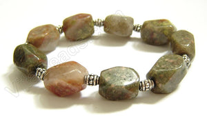 Faceted Nuggets Bracelet  Pink Jasper