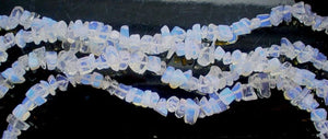 Synthetic White Opal  -  Chips 36""