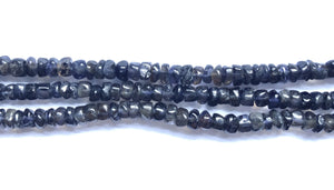 "Iolite Dark  -  Heishi Button  14""    3-4mm"