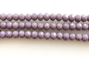 Dark  Lilac Quartz  -  Faceted Rondel