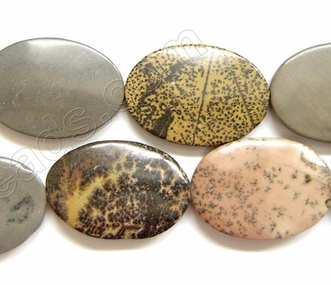 Puff Ovals  -  Paint Brush Jasper  16""