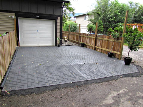 of mats charming installation for board grey mat photo heated thick leak oil driveway