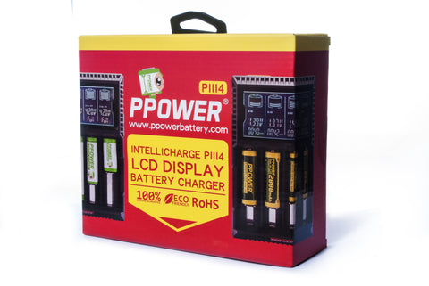 PPOWER- Intellicharge PIII4 LCD Display Battery Charger