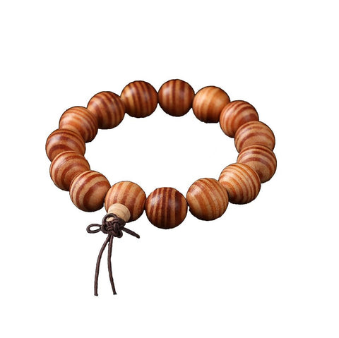 Qzoxx Mantra - Man Woman Tibetan Buddhist 15mm Agathis Beads Fo Kwan-yin Mala Bracelet (15mm)