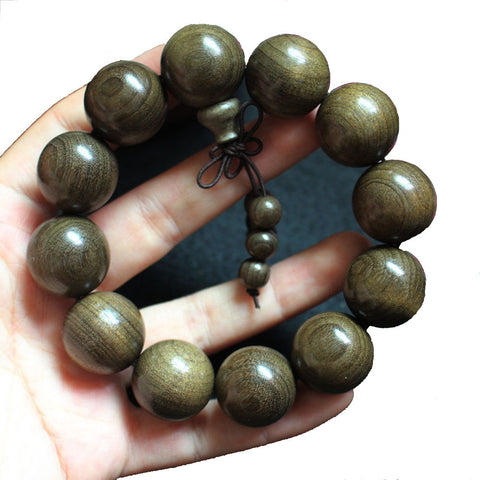 Qzoxx Mantra - Man Woman Tibetan Buddhist 20mm Nyatoh Beads with Small Beads Fo bracelet(20mm)
