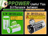 PPOWER - cr123 3.7V 700MAH LITHIUM ION RECHARGEABLE BATTERIES+ PIII4 LCD DISPLAY UNIVERSAL BATTERY CHARGER