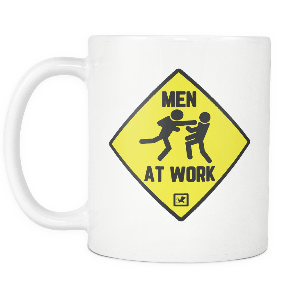 Men at Work Combat Sports 11oz White Mug right.