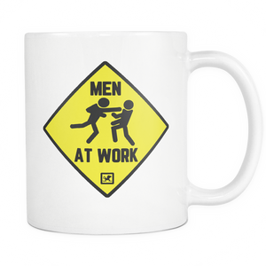 Men at Work Combat Sports 11oz White Mug