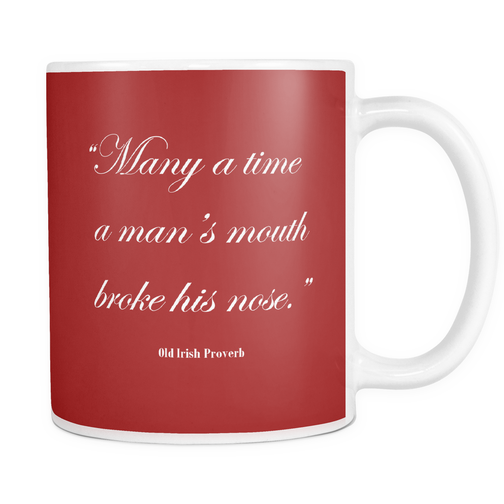 Many is a time quote mug.