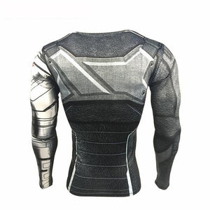 Avengers 3 Compression Shirt Men back.