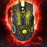 Gaming Mouse 3200DPI LED Optical yellow.