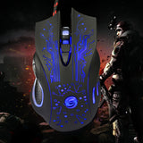 Gaming Mouse 3200DPI LED Optical dark blue.