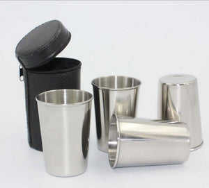 Stainless Steel Pocket Shot Glass 70ML 4pcs/Set