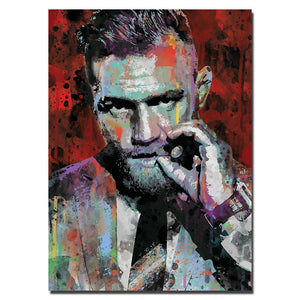 Conor McGregor silk wall poster.