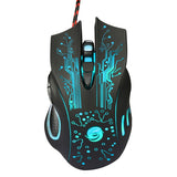 Gaming Mouse 3200DPI LED Optical aqua.
