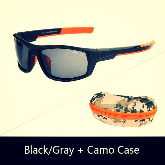 Camo sunglasses orange