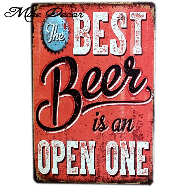 Vintage Metal Beer wall Signs for Pub or Home 20cm x 30cm