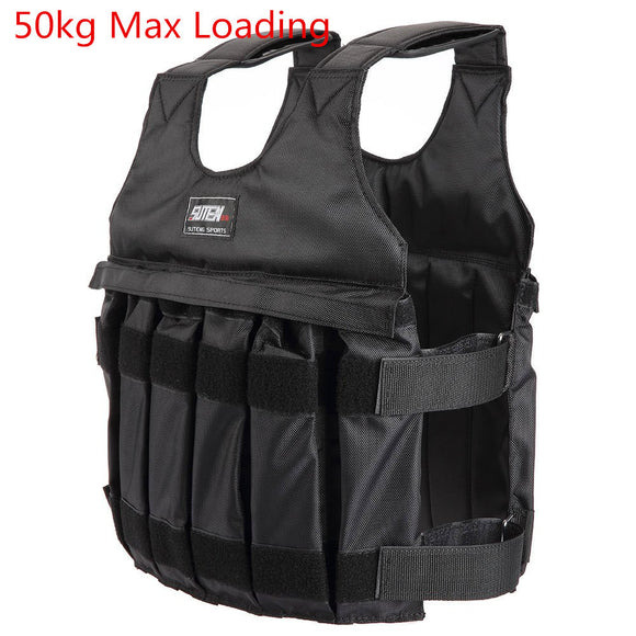 Workouts with Weighted Vest with a Maximum 50kg.