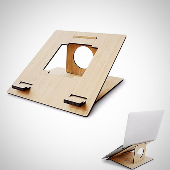 Wooden Laptop Stand Oozes Style.