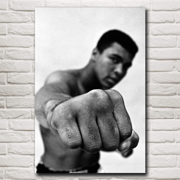Muhammad Ali Heavyweight Boxing Silk Poster Print.