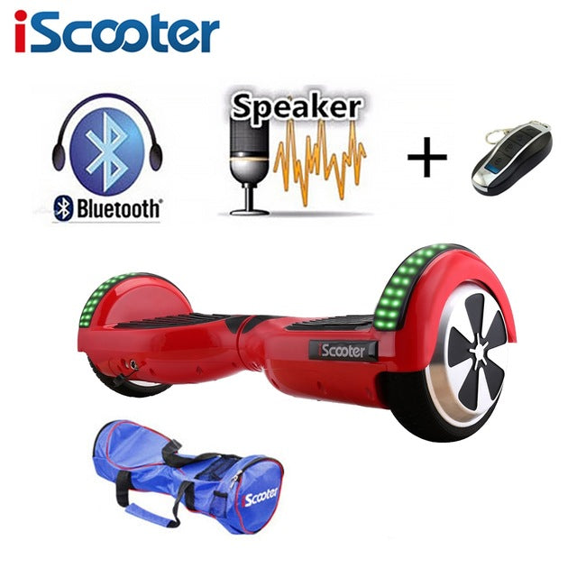 iScooter Bluetooth Hoverboard Self Balancing Electric Skateboard
