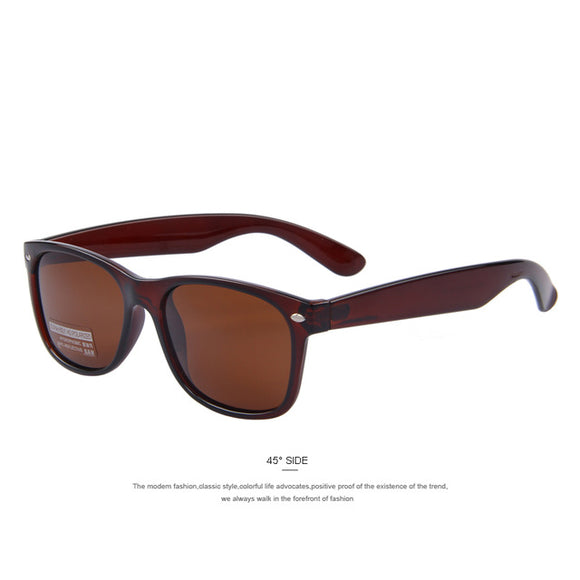 Brown Men Polarized Classic Men Retro Rivet Shades by MERRY'S