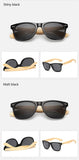 Selection retro bamboo sunglasses.