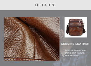 Genuine Cow Leather Men's Bag by QBL