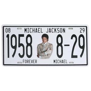 Michael Jackson king of pop retro sign.