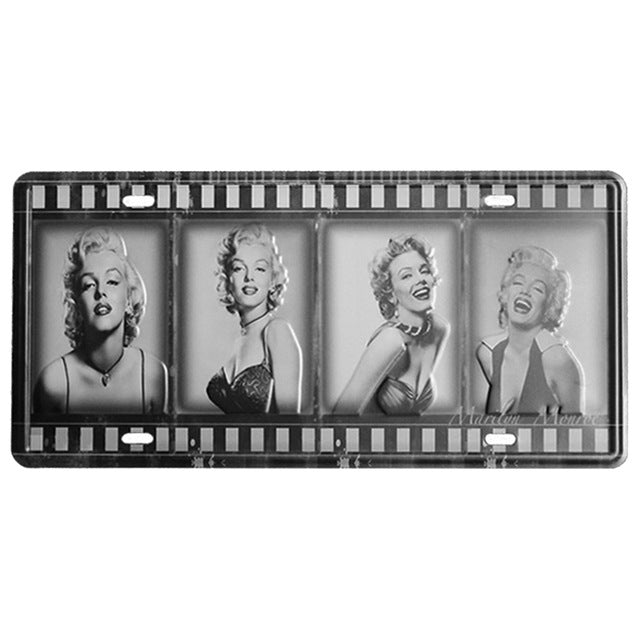 Marilyn Monroe negatives wall sign.