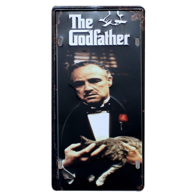 The Godfather retro wall sign.