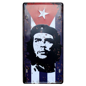 Che guevara Cafe and Garage Decorative Metal Sign.