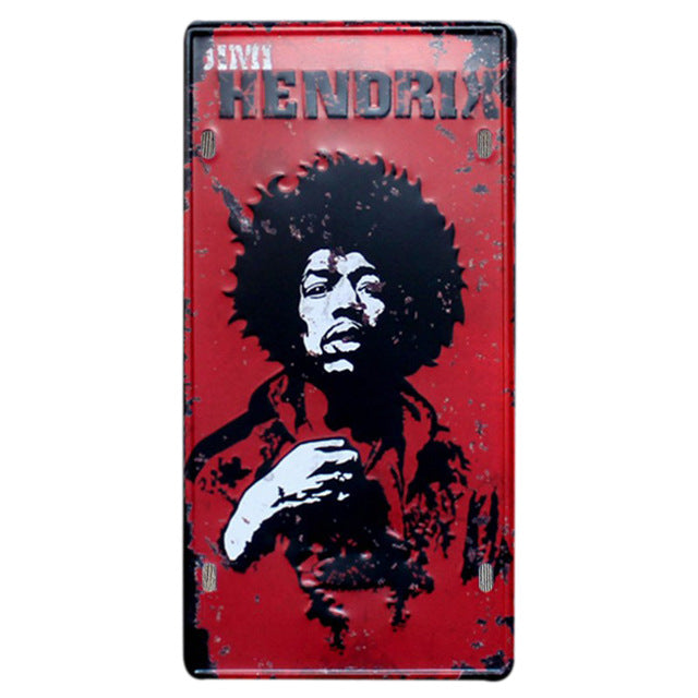 Jimi Hendrix wall plate sign.