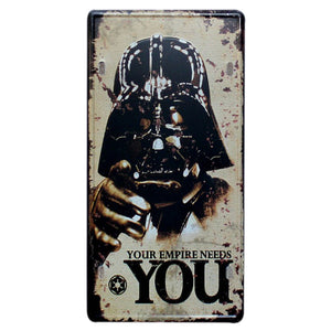 Darth Vader wall sign.