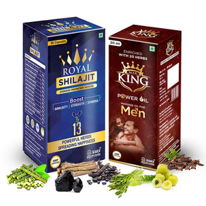 Royal Shilajit with Gold Bhasam and Kesar Combo for Power