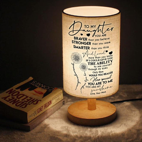Mom to Daughter - You Are My Sunshine - LED Lamp