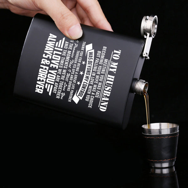 To My Husband Falling in Love With You Was Beyond My Control - Stainless Steel Hip Flask