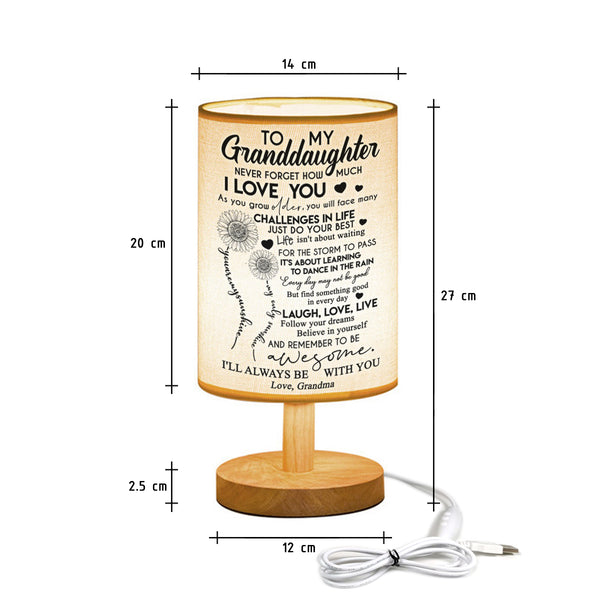 Grandma to Granddaughter - Never Forget How Much I Love You - LED Lamp