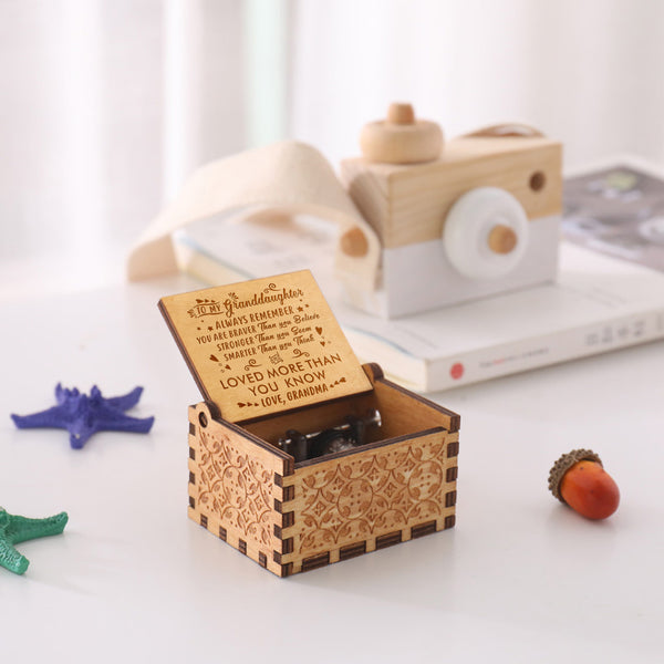 Grandma To Granddaughter You Are Loved More Than You Know - Engraved Music Box