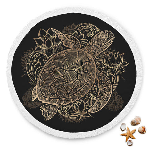 Sea Turtle Printed Beach Blanket