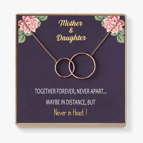 Mother & Daughter Never Apart Necklace Gift Box