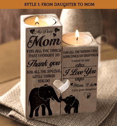 My Dear Mom I Need To Say I Love You Engraved Candle Holder
