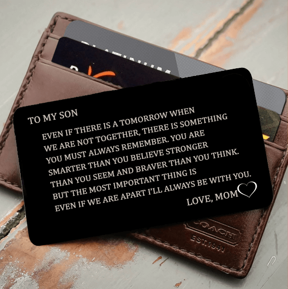 MOM TO SON, I'LL ALWAYS BE WITH YOU Wallet Insert Love Note