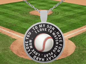 Love To Watch You Play Baseball Necklace