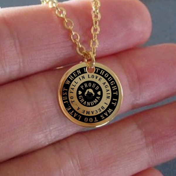 Proud Grandma Laser Engraved Necklace
